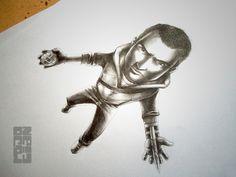 """""""Desmond Miles"""" Ilustración en grafito."""