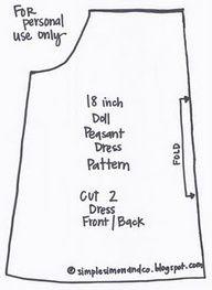 american girl doll ideas - doll pattern