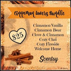 "Scentsy ""Cinnamon Lovers"" Bundle for fall and winter 2016 #scentsbykris"