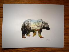 #sleepy #bear #dusk #watercolor #jennymmathews #illustration #midwest