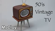 DIY Dollhouse miniature 50's vintage television