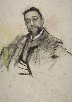 """Ramon Casas Carbó (1866-1932). """"Ruperto Chapí"""". MNAC. Barcelona."""