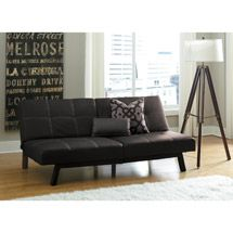 Delaney Faux Leather Futon Sofa Bed Multiple Colors 139 00