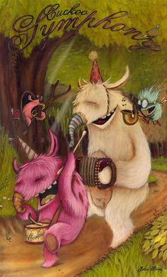 Johan Potma, The Cuckoo Symphony Orchestra, illustrazione Art And Illustration, Monster Illustration, Cute Monsters, Little Monsters, Alien Art, Drag, Monster Art, Monster Drawing, Cool Paintings