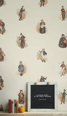 This wallpaper features vintage illustrations of famous characters from Charles Dickens' most favoured novels including Oliver Twist, The Pickwick Papers and the Old Curiosity Shop all in one design. Suiting most spaces from a study room/home office to a child's bedroom or nursery room, this character-led print from Murals Wallpaper featuring the likes of Mr Bumble to Artful Dodger will transform your room into a literary voyage of discovery. Visit housebeautiful.co.uk for more inspiration.