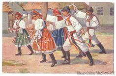 Postcard 1911 Czech Easter Traditions Moravian Folk Custom Painting Kroj Costume | eBay