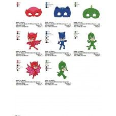 Package 8 PJ Masks 01 Embroidery Designs