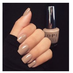 This nude nail color tho #OPI in TANACIOUS SPIRIT // according to OPI
