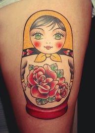 Bildergebnis für matryoshka dolls tattoo