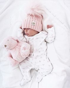 pink pom beanie for baby