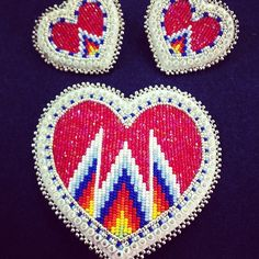 Native American Patterns, Native American Crafts, Native Beadwork, Native American Beadwork, Bead Loom Patterns, Beading Patterns, Beading Projects, Peyote Stitch, Thread Crochet