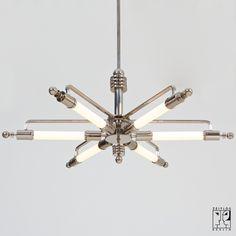 """Deckenleuchte """"Metropolis"""" im Machine Age Design - Bild 1"""
