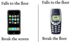 iPhone vs Nokia phone