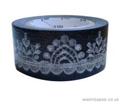 Single MT ex washi tape - Charcoal Lace Masking Tape, Washi Tape, Having An Affair, Wedding Crafts, Charcoal, Stationery, Crafty, Uk Online, Lace