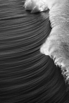 Harmony. All water drawing together to make wave. The harmony between waves