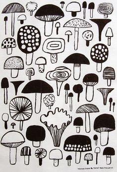 print and pattern blog, mushroom print