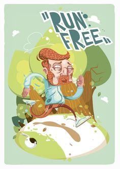 Run Free! by Antonio Sortino, via Behance