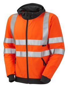 Hi Vis Full Zip Hooded Fleece 2XL, 3XL, 4XL, 5XL, 6XL Orange