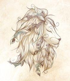 Poetic Lion Art Print
