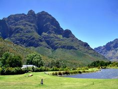 A view in the middle of the Du Toit's Kloof pass of Paarl, South Africa.