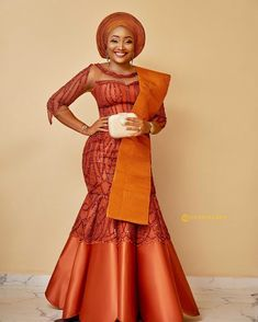 lace with aso oke outfit / Aso oke fabric/African women's clothing /African fashion / woman outfit /Special event dress /lace fabrics African Fashion Ankara, Latest African Fashion Dresses, African Print Fashion, Nigerian Fashion, African Lace Styles, African Lace Dresses, Ankara Styles, Nigerian Dress Styles, Nigerian Clothing