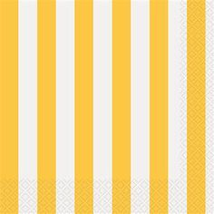 Sunflower Yellow Striped Lunch Napkins 16ct - 324843 | Party-ify! #yellowstripes #stripes #lunchnapkins #napkins #yellownapkins