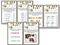 Classroom Freebies: Spelling Center Activity Cards