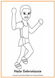 haile gebrselassie colouring page