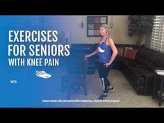 Exercises for Seniors with Knee Pain - YouTube Elderly Activities, Daily Activities, Physical Activities, How To Strengthen Knees, Workout Videos, Exercise Videos, Exercise Routines, Plus Size Workout, Senior Fitness
