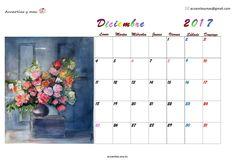 #diciembre en mi calendario 2017 #Dicember #Calendar #calendario #watercolor #acuarela #artist #artistas #painting #draw comenzando y continuando planes e ilusiones. Muy buenos deseos para este fin de año y para el próximo
