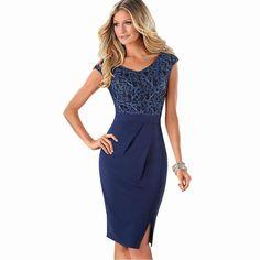 394e3992fb6 Винтажное офисное деловое платье с разрезом по бокам