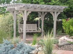 It is wonderful and enchanting idea to design pergola with swing. You can design pergola with swing in square, round or pentagon shape. Diy Pergola, Building A Pergola, Small Pergola, Pergola Swing, Pergola With Roof, Pergola Ideas, Pergola Kits, Pergola Cover, Backyard Ideas