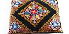 traditional embroidery on cushion Cushions, Pillows, Folk Costume, Silk Painting, European Countries, Embroidery, Czech Republic, Sewing, German