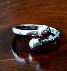Sterling silver soccer ball ring is the perfect soccer jewelry gift for a soccer player, soccer team or coach gift to show love for their favorite sport. Soccer Fans, Soccer Players, Soccer Stuff, Basketball, Soccer Cleats, Volleyball, Soccer Coach Gifts, Team Gifts, Bff Gifts