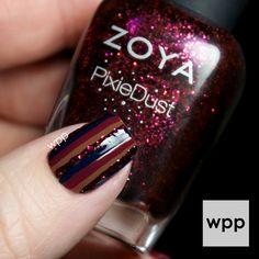 Zoya Fall Flowers with Entice and Noir Ultra PixieDust : work / play / polish