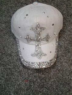 12bb406cb5d Bling Stone Cross Baseball Cap Baseball Hats