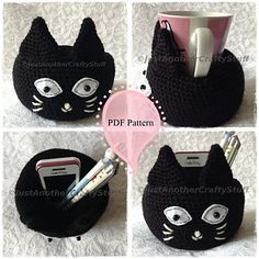 Black Cat Bowl Amigurumi