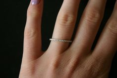 Super thin diamond band... Would look cute on my leetle hands!