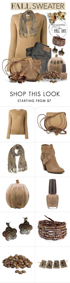 Cozy Sweater for Fall by jackie22 on Polyvore featuring mode, Golden Goose, Dolce Vita, Chloé, Chan Luu, GAS Jeans, Overland Sheepskin Co., OPI, Smith & Hawken and Crate and Barrel