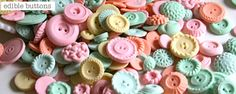 Buttons and food combined - love it!