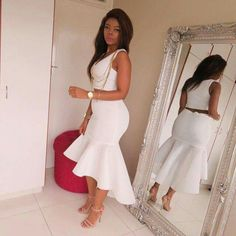 I now understand my clothing style, what clothes to look for. African Fashion Dresses, African Attire, African Wear, African Dress, White Fashion, Look Fashion, Fashion Outfits, Womens Fashion, Fashion Design