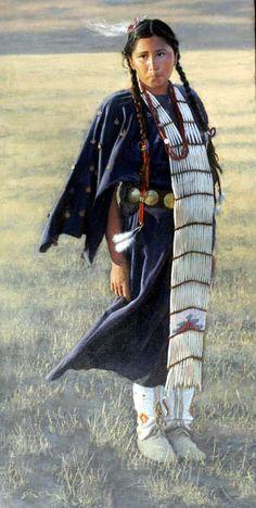John Gawne - The Penny Dress Native American Children, Native American Pictures, Native American Beauty, Native American Artists, American Indian Art, Native American History, Native American Indians, Native Indian, Native Art