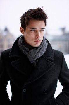 """""""scarf & pea coat"""""""