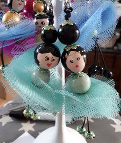 Two ballerinas like sisters Paint Line, Kokeshi Dolls, Ballerinas, Sisters, Japanese, Simple, Handmade, Hand Made, Ballet Flats
