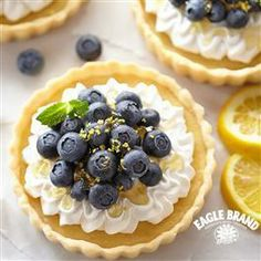 #Lemon #Blueberry Tartlets from Eagle Brand®