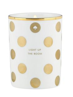 """light up the room"" candle // 30% off at Kate Spade this weekend"