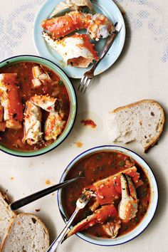 Crab & Fennel Stew.  Oh, this is a rich sauce.  Be sure to have a lovely baguette cut into pieces to enjoy it to the very last drop!
