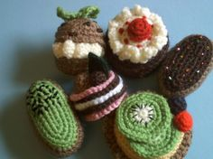 Amigurumi Petits Fours collection crochet food pattern by la fée crochette, via Flickr