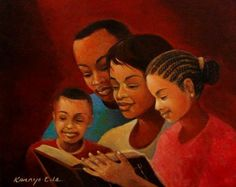 """""""The Good Book"""" by Kanayo Ede. A tremendous Nigerian born artist that now resides in Metropolitan Atlanta. I can't wait to add more of his artwork to our website!"""