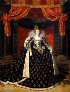 Marie de Médicis, reine de France et de Navarre, en grand costume royal, par Frans Pourbus II.(younger) (1569–1622)-flemish painter